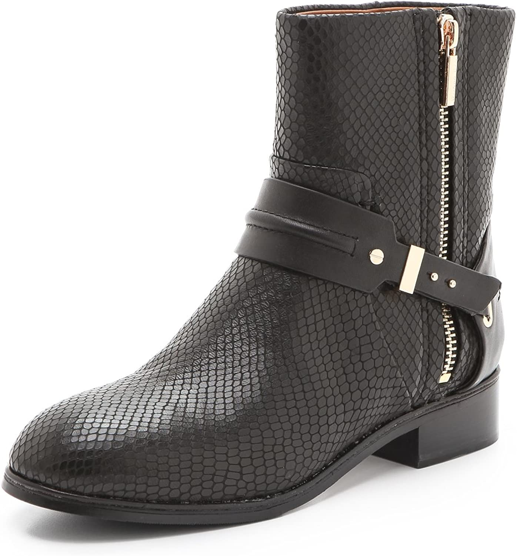 Rachel Roy Paxton läder Boot svart svart svart Woherrar 6 M USA  försäljning