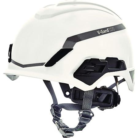 Casco de Seguridad Industrial para Escalada MSA V-Gard H1 - Novent - Blanco - 52–64 cm - Casco con barboquejo para Trabajo en Alturas y Rescate - ...