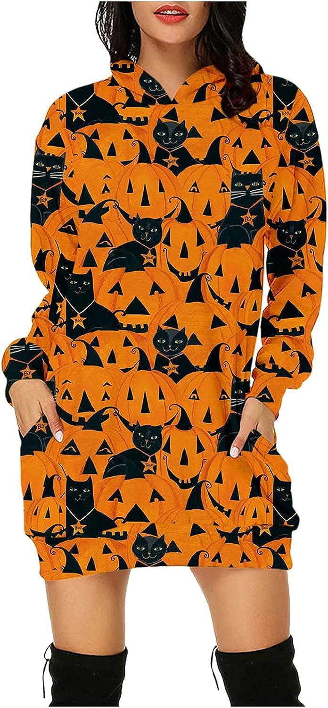 Summer Halloween Dress for Women Sleeve Hooded Max 51% OFF Long Pockets High order Pump