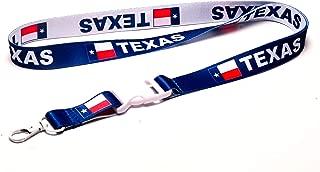Texas flag reversible lanyard