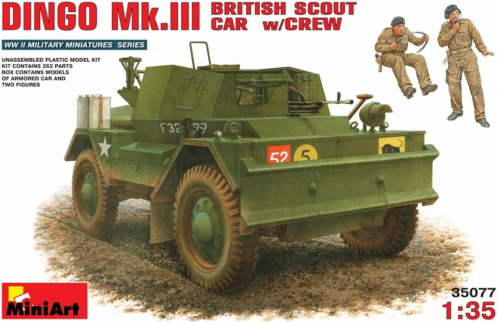 Miniart Max 75% OFF 1:35 New item - Dingo Mk.iiibritish Scout With Car Crew