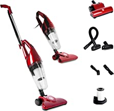 Duronic VC7/RD Upright Stick Vacuum Cleaner Handheld HEPA Filter Bagless Stick Vac with Turbo Brush/Hose/Extra Filter and 2 in 1 Crevice/Brush Tool - Convert from Upright to Hand Held in Seconds!