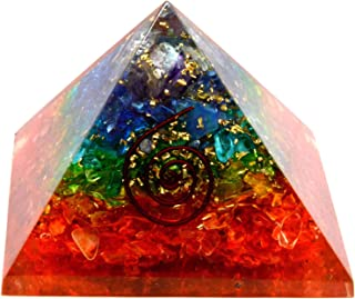 SHIVANSH CREATIONS Emf Protection Orgone Pyramid, Healing Crystals Chakra Stones Reiki Energy Meditation Negative Ion Gene...