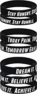 AMPM Collective | Silicone Motivational Wristbands | Rubber Inspirational Quote Bracelets | Unisex for Men Women Teens | Good for Daily Discipline Perseverance and Motivating Force (6/12/24)
