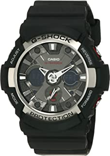 Casio Sport Watch Analog-Digital Display Quartz For Men Ga-200-1A, Black
