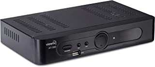 ViewTV ATSC Digital Converter Box for TV, HDMI Cable Recording PVR Function Output USB LED Timer Display AT-300