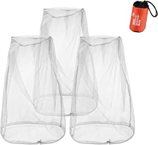 (3 Pack) Mosquito Head Nets for Hats, ProCase Bug Net for Head Face Insects Screen Fly Repellant for No See Ums Insects Bugs Gnats Biting Midges for Garden Work Camping Hunting Fishing –Grey