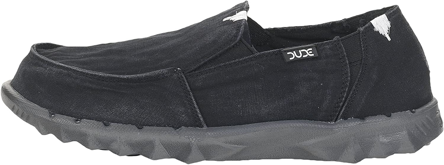 Dude shoes Hey Men's Farty Washed Black Slip On Mule
