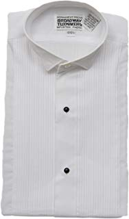 Boys White 1/8 Inch Wing Tip Tuxedo Shirt by