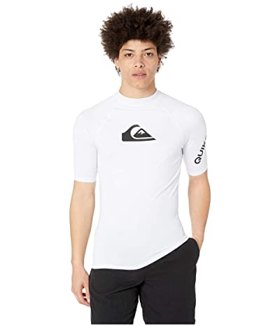 Quiksilver All Time Short Sleeve Rashguard (White 2) Men