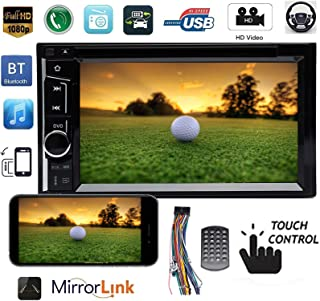Double Din Car Stereo Touch Screen with Bluetooth CD/DVD Player Mirrorlink Aux Input MP5 Player Radio MP5 Indash Head Unit for Nissan Frontier 2001-2011, 2Yr Warranty