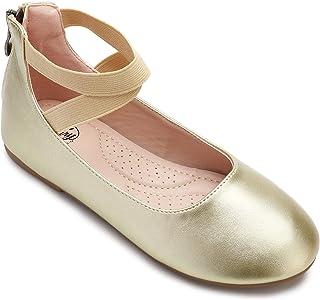 کفش های کشویی رومی با بند مچ پا الاستیک را باتری تخت های باله دختران کوچک ترری کنید