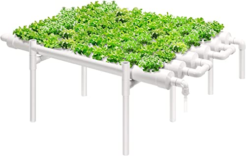 new arrival VIVOSUN Hydroponic Grow Kit, 1 Layer 54 Plant Sites 6 PVC Pipes outlet sale Hydroponics Growing System with Water Pump, Pump popular Timer, Nest Basket and Sponge for Leafy Vegetables outlet sale