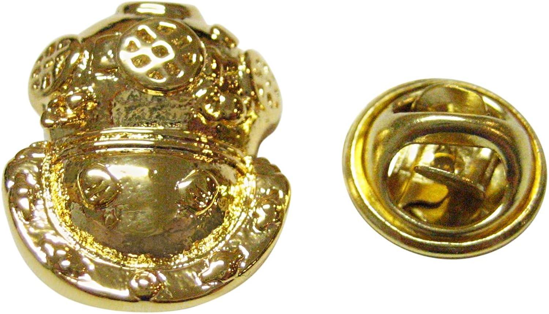 Gold Toned Divers Helmet Lapel Pin