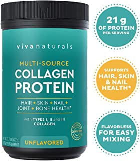 Multi Collagen Protein Powder (23.7 oz) - Unflavored Collagen Powder for Healthy Hair Skin and Nails, Mix with Morning Coffee, Smoothies and Shakes - Paleo and Keto Friendly