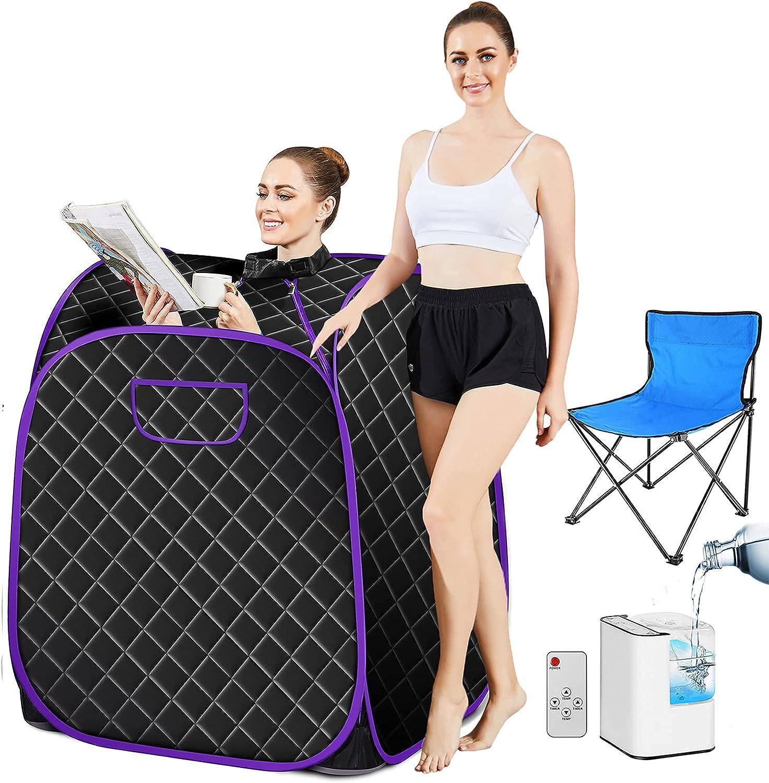 Many popular brands Mauccau Steam Sacramento Mall Sauna Portable Personal with Tent Con Remote