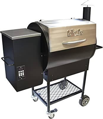 Pellet Pro Deluxe Stainless 770 Pellet Grill - with PID Controller, 35lb Capacity Hopper and Pellet Dump