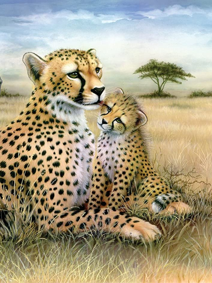 Royal & Langnickel Painting by Numbers Junior Small Art Activity Kit, Leopard