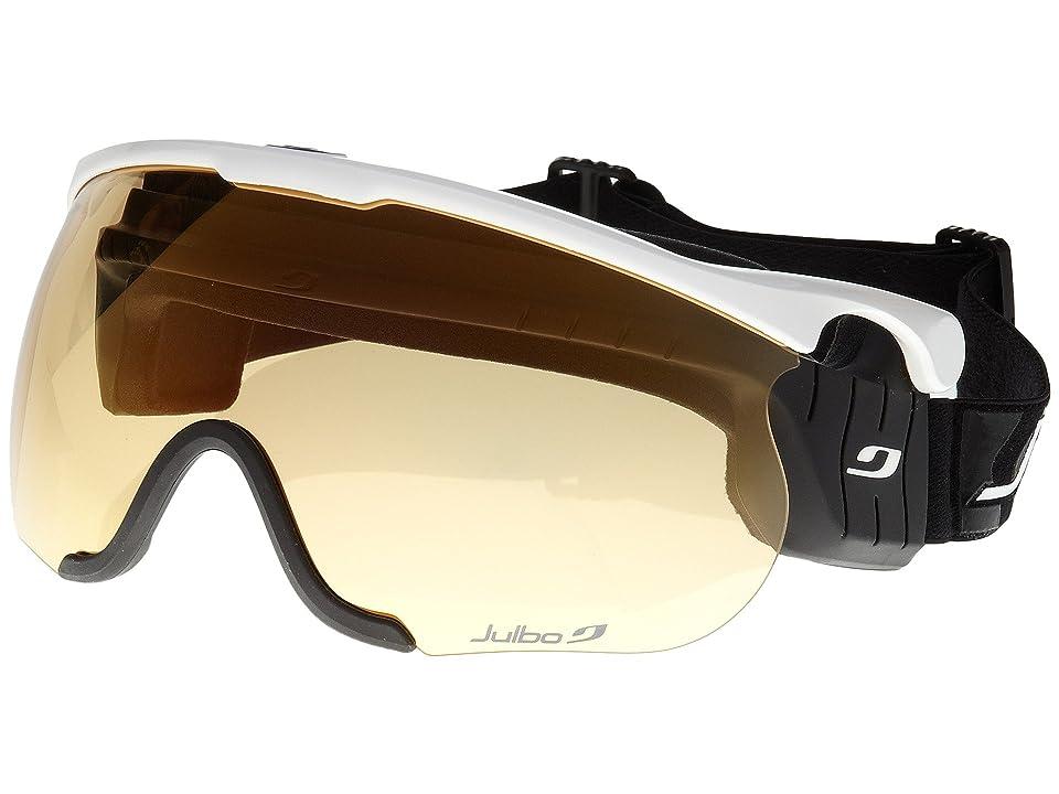 Julbo Eyewear Sniper L (White/Black Zebra Lens) Goggles