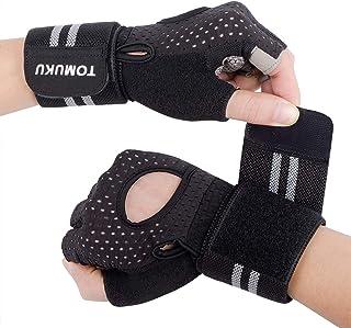 Tomuku Rękawice treningowe do fitnessu z podpórką pod nadgarstek, do podciągania hantli i podnoszenia ciężarów
