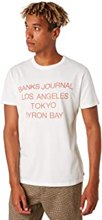 Banks Men's Grammar Mens Tee Short Sleeve Cotton White