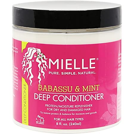 Mielle Organics Babassu & Mint Deep Conditioner, Protein and Moisture Replenisher, 8 Ounces