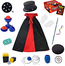 Magic Kit for Kids - Magic Tricks Games for Girls & Boys, Magician Pretend to Play Dress Up Set with Magic Wand & More Mag...