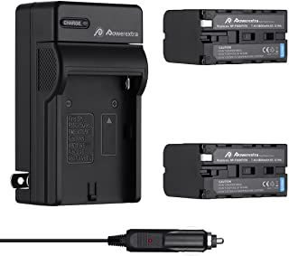 Powerextra 2 Pack Replacement Sony NP-F970 Battery 8800mAh and Charger for Sony DCM-M1 MVC-CD1000 HDR-FX1 DCR-VX2100E DSR-PD190P NEX-FS700RH HXR-NX3 Camera as NP-F930 NP-F950 NP-F960