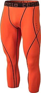 Tesla Men's Compression 3/4 Capri Shorts Baselayer Cool Dry Sports Tights