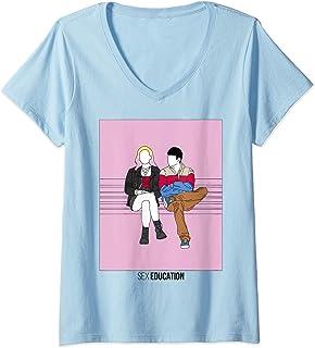 Femme Sex Education Otis & Maeve Minimal Poster T-Shirt avec Col en V