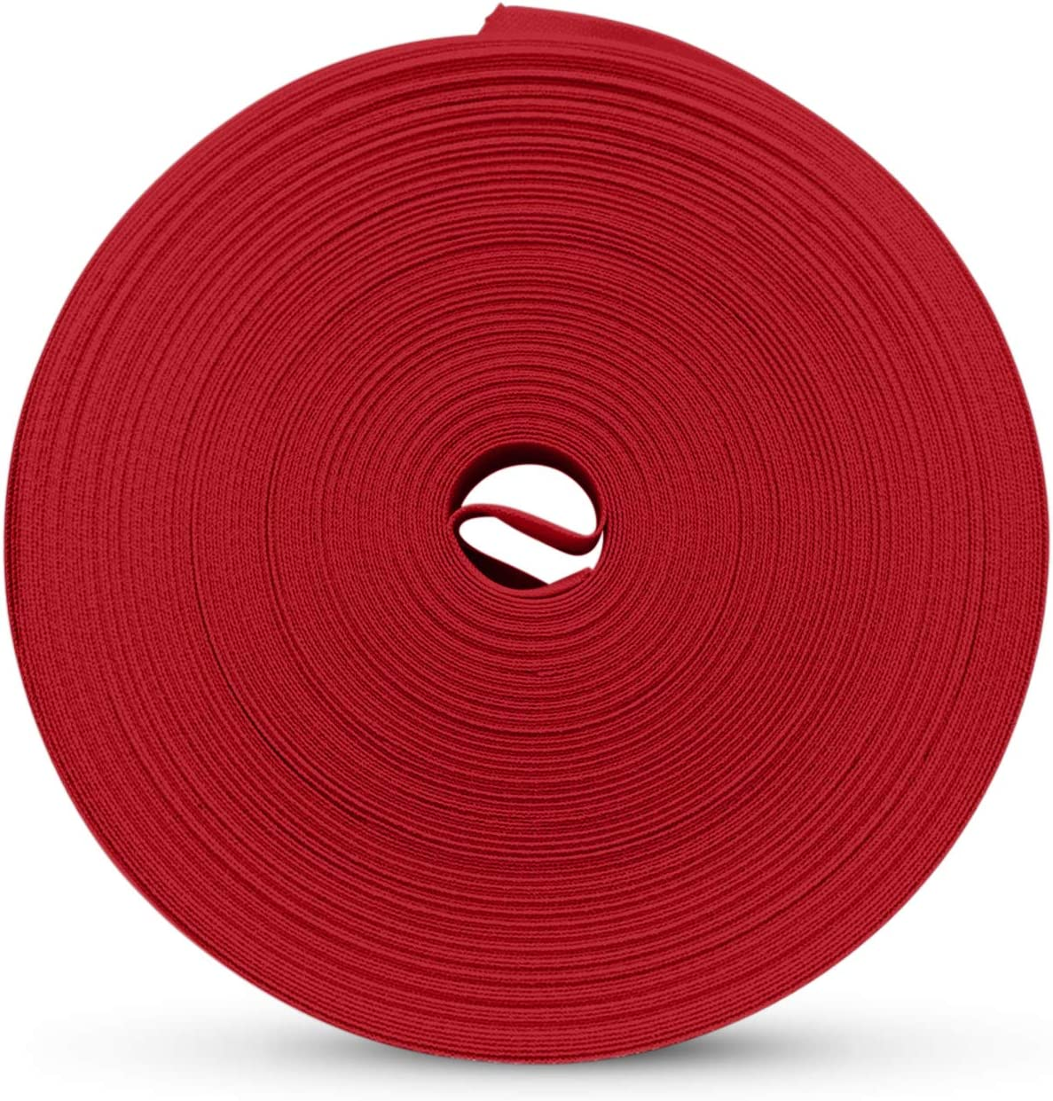 """Colibree Binding Tape for Carpet Edges Bias Tape Single Fold 55 Yards/… /½/"""" Polyester Fabric Webbing for Upholstery -Red"""