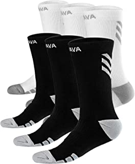 Dovava Dri-tech Compression Crew Socks (4/6 Pairs), Comfort Anti-Blister Boost Circulation