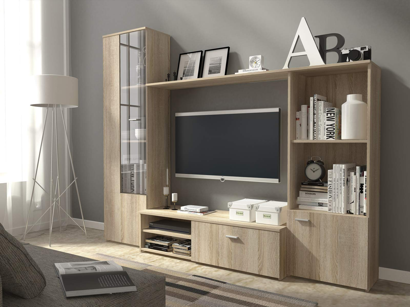 living room wall units amazon co uk rh amazon co uk wall unit design in living room wall units living room uk