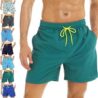 83ce097e832e26 coskefy Badeshorts für männer Jungen Badehose Schwimmhose Schnelltrocknend  Kurz Vielfarbig Beachshorts Boardshorts Strand Shorts Sporthose mit  Mesh-Futter ...