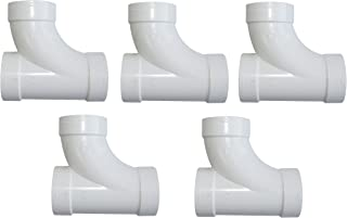 ZVac 5 Pack Central Vacuum Fittings Sweep T 3-Way Fittings Replacement Compatible for All Central Vacuum Systems