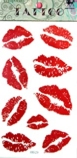 SPESTYLE waterproof non-toxic temporary tattoo stickersnew design red lip temporary temporary tattoos