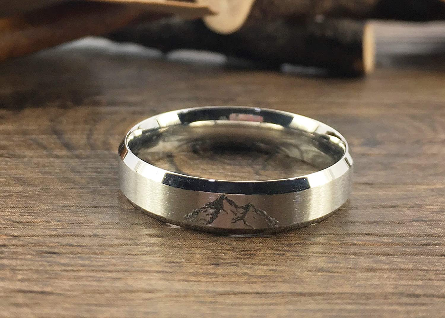 Free Shipping New Handmade Your Drawings Ring Max 83% OFF Unique Silver Band Wedding Titanium