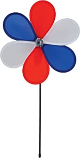 In the Breeze 6-Petal Fabric Patriot Flower Spinner, 12-Inch