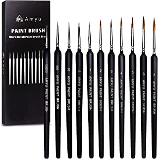 Amyu ペイントブラシ 面相筆 プラモデル フィギュア 塗装 画筆 11本 セット