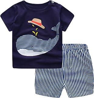 Jsmiten Baby Boys Girls 2 Pieces Shorts Set Unisex Baby Summer Clothing Set