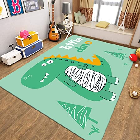 Childrens Rug Play Mat Nursery Educational Pre School Cute Dinosaur Green Large Scale Game Kids Bedroom Living Room Decor Carpet 150 200cm Amazon Co Uk Baby