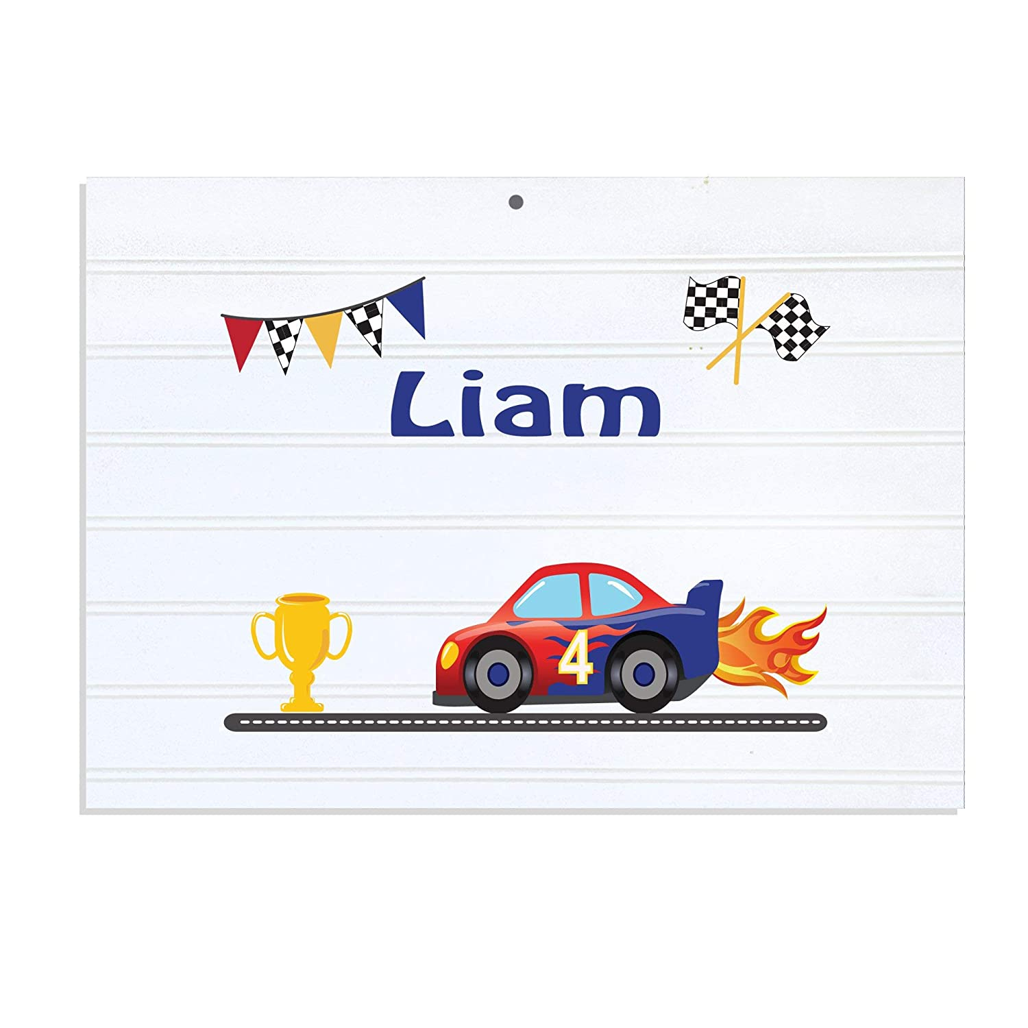 Personalized White Vintage Childrens Cars online shop Room Sign Race NEW before selling