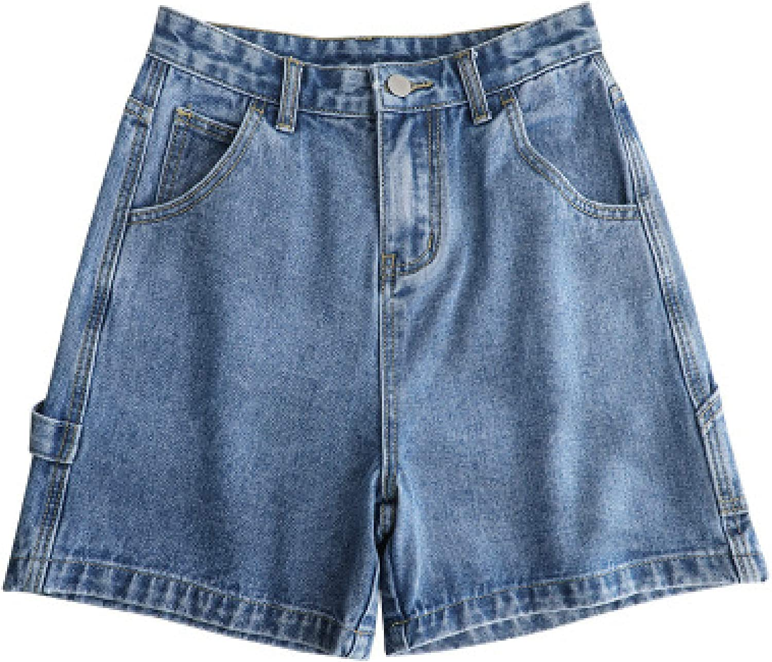 Women's Loose Plus Size Denim Shorts Classic Basic Spring and Summer Solid