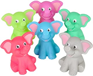Colorful Rubber Elephant Squirt Toys - set of 12!