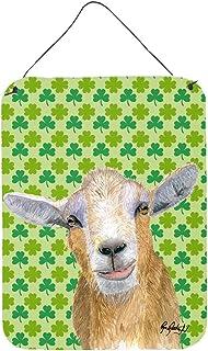 Caroline's Treasures RDR3025DS1216 St Patrick's Day Goat Aluminium Metal Wall or Door Hanging Prints, 12x16, Multicolor