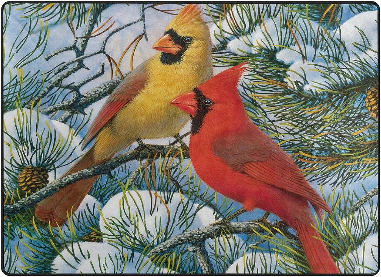 FAJRO Winter Cardinals Wallpaper Rugs for entryway Doormat Area Rug Multipattern Door Mat shoes Scraper Home Dec Anti-Slip Indoor Outdoor
