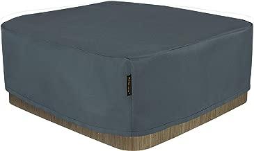 Hentex Cover - Cubierta para Jacuzzi (Rectangular, Resistente al Agua, protección contra el Viento y los Rayos UVA)