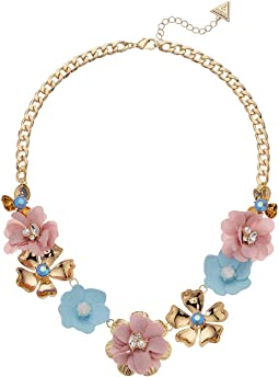 Flower Front Statement Necklace