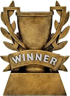 Decade Awards Winner Cup Trophy - Gold Laurel Wreath Winners Cup Award - 6 Inch Tall - Engraved Plate on Request