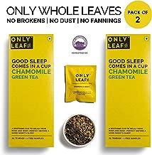 Onlyleaf Chamomile Green Tea , 52 Tea Bags (50 Tea Bags + 2 Free Exotic Samples)